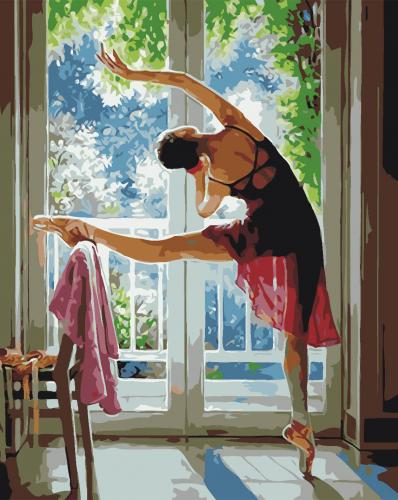 Balerina - Picturi pe numere - (40 x 50 cm)0