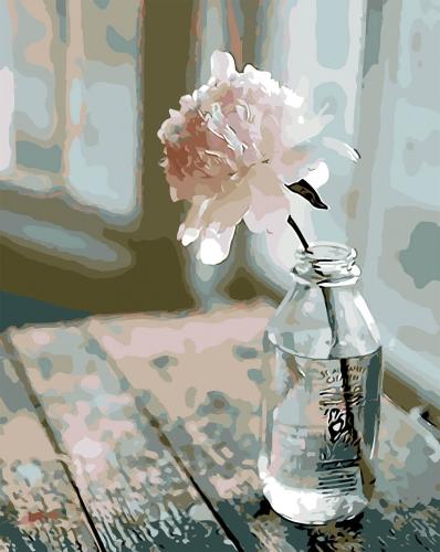 Trandafir - Picturi pe numere - (40 x 50 cm)0