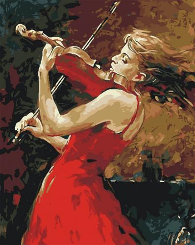 Violonista - Picturi pe numere - (40 x 50 cm)0