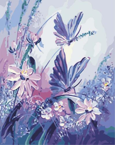 Fluturi - Picturi pe numere - (40 x 50 cm)