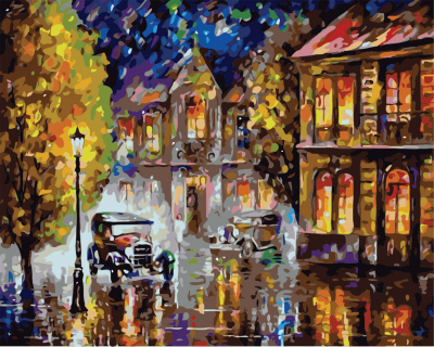 Noaptea altadata - Picturi pe numere - (40 x 50 cm)0