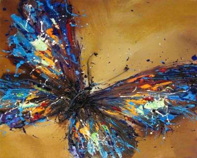 Fluturas - Picturi pe numere - (40 x 50 cm)0