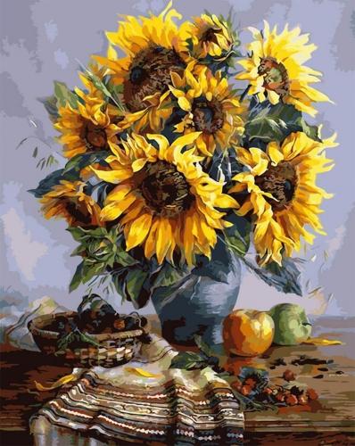 Floarea soarelui - Picturi pe numere - (40 x 50 cm)0