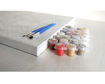 Ramuri inflorite - Picturi pe numere - (40 x 50 cm)3