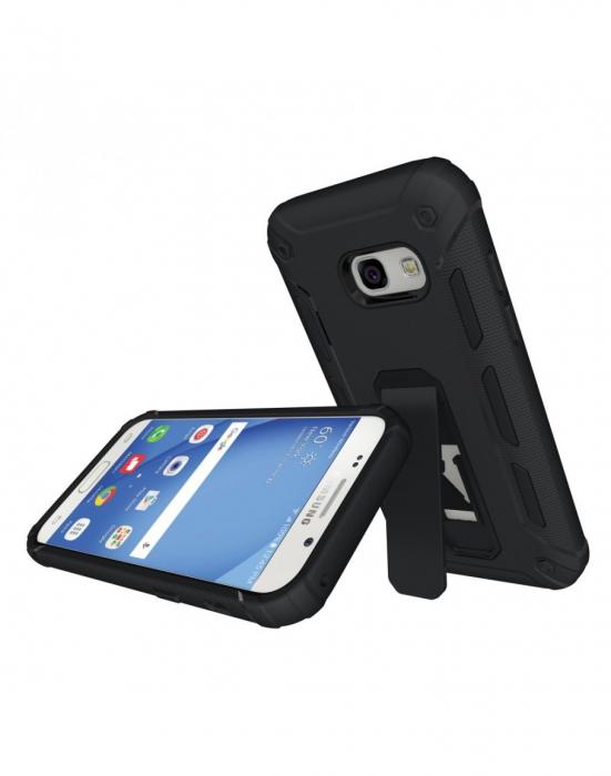 Carcasa protectie spate din plastic si TPU pentru Samsung Galaxy A3 (2017), neagra 0