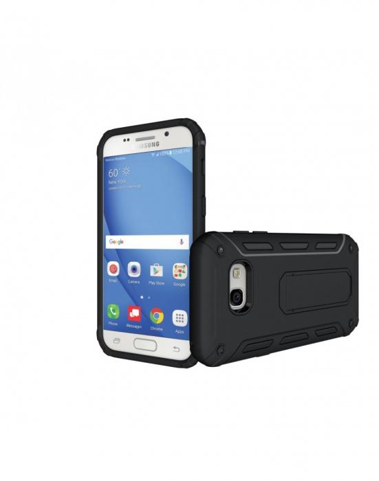 Carcasa protectie spate din plastic si TPU pentru Samsung Galaxy A3 (2017), neagra 1