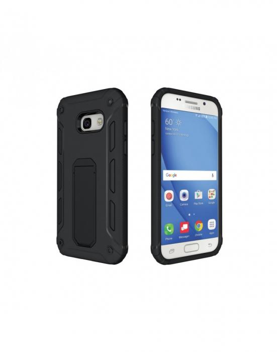 Carcasa protectie spate din plastic si TPU pentru Samsung Galaxy A3 (2017), neagra 2