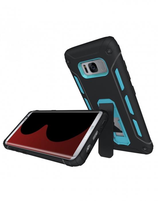 Carcasa protectie spate 2 in 1 pentru Samsung Galaxy S8 G950, albastra 0