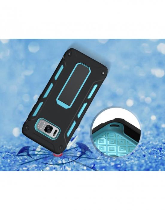 Carcasa protectie spate 2 in 1 pentru Samsung Galaxy S8 G950, albastra 1