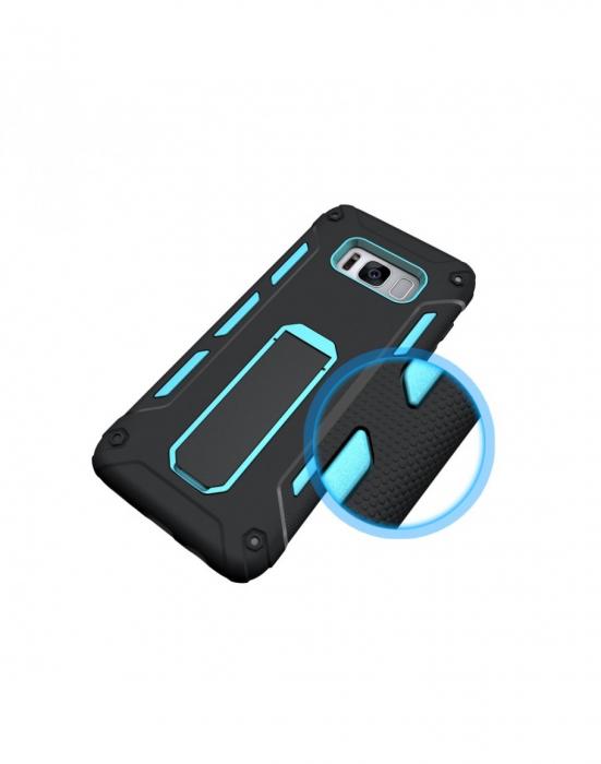 Carcasa protectie spate 2 in 1 pentru Samsung Galaxy S8 G950, albastra 3