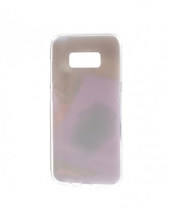 Carcasa protectie spate cu pisica Squishy pentru Samsung Galaxy S8, mov 3