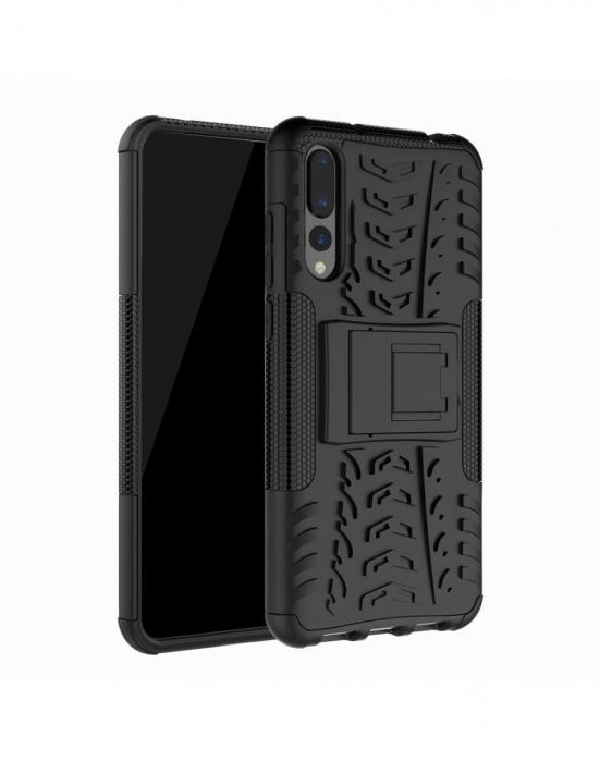 Carcasa protectie spate anti-alunecare pentru Huawei P20 Pro, neagra 6