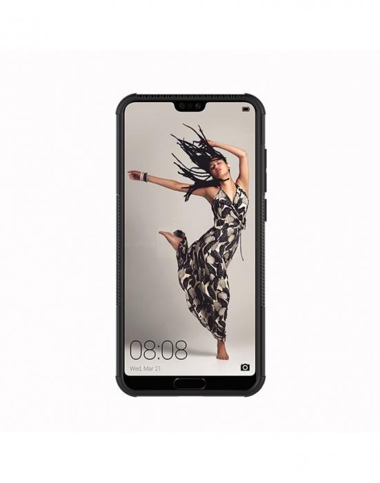 Carcasa protectie spate anti-alunecare pentru Huawei P20 Pro, neagra 4