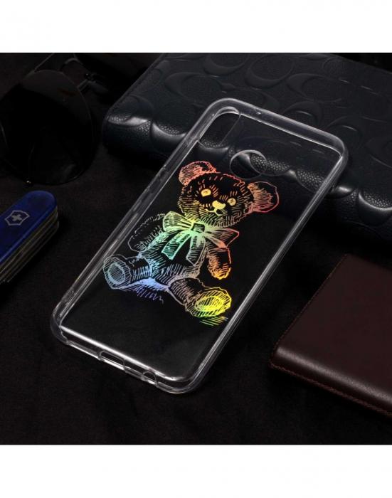 Carcasa protectie spate ,,Urs'' din gel TPU pentru Huawei P20 Lite 3