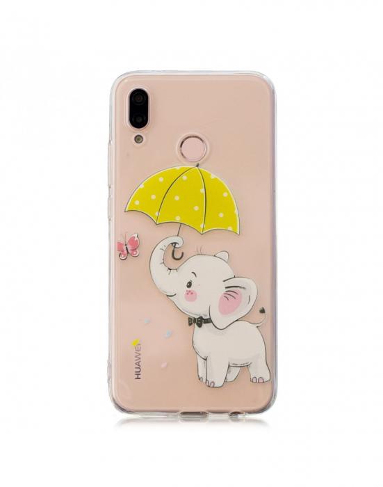 Carcasa protectie ,,Elefant'' din gel TPU pentru Huawei P20 Lite 0