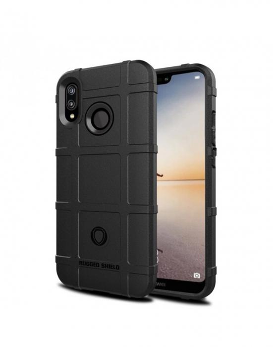 Carcasa protectie spate din gel TPU pentru Huawei P20 Lite, neagra 0