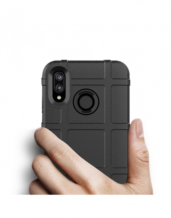 Carcasa protectie spate din gel TPU pentru Huawei P20 Lite, neagra 2
