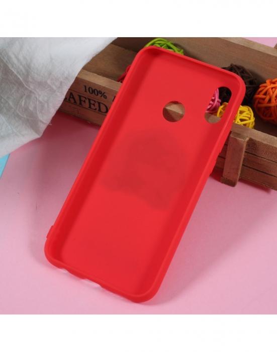 Carcasa protectie 3D ,,Caine'' din gel TPU pentru Huawei P20 Lite, rosie 3