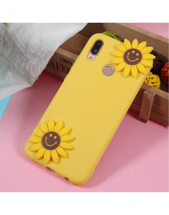 Carcasa protectie spate 3D ,,Floarea Soarelui'' din gel TPU pentru Huawei P20 Lite 0