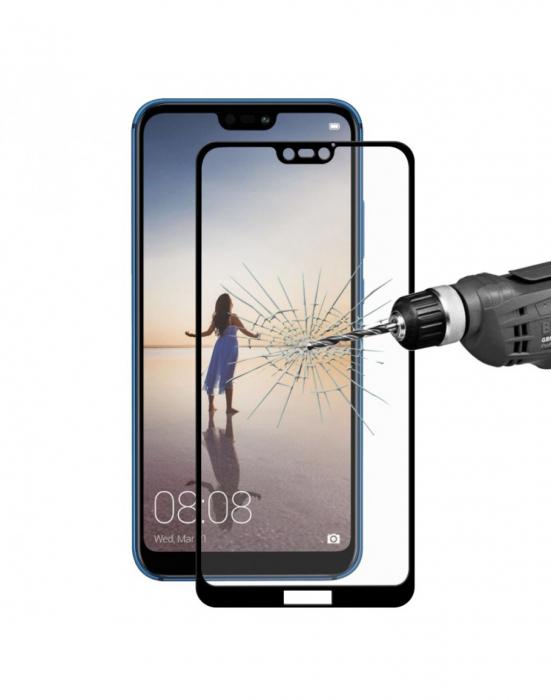 Sticla securizata protectie ecran 0.26mm pentru Huawei P20 Lite, neagra 1