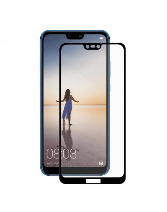 Sticla securizata protectie ecran 0.26mm pentru Huawei P20 Lite, neagra 0