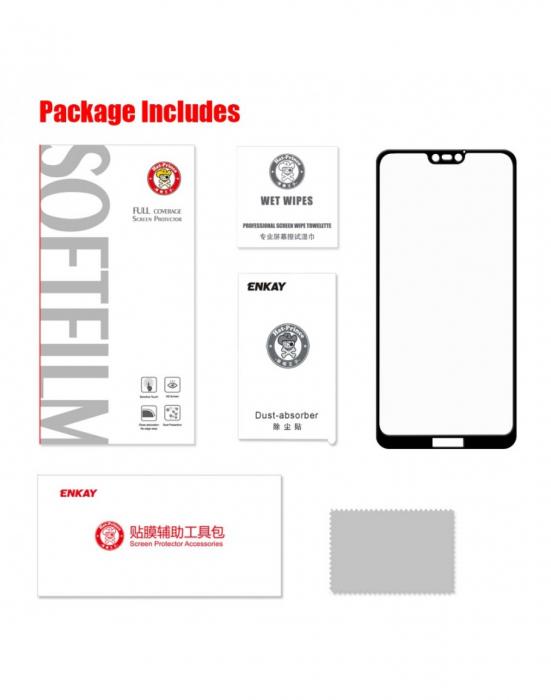 Sticla securizata protectie ecran 0.26mm pentru Huawei P20 Lite, neagra 4