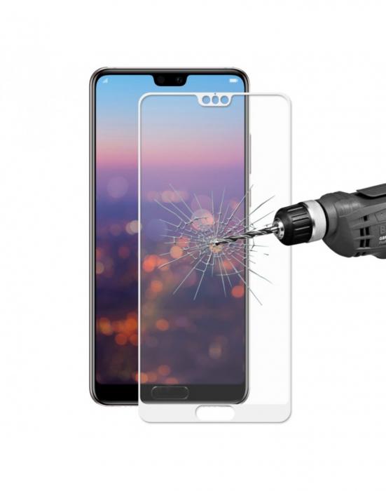 Sticla securizata protectie ecran 0,26 mm pentru Huawei P20, alba 0