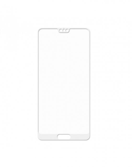 Sticla securizata protectie ecran 0,26 mm pentru Huawei P20, alba 1