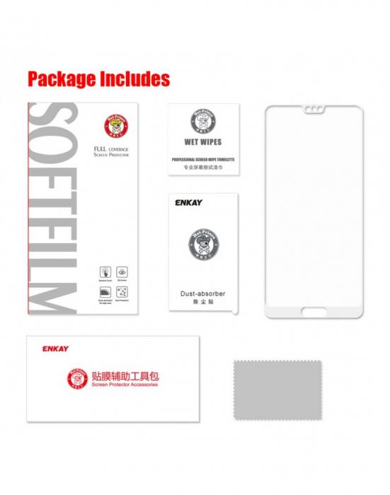 Sticla securizata protectie ecran 0,26 mm pentru Huawei P20, alba 2