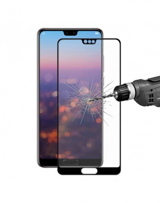 Sticla securizata protectie ecran 0.26mm pentru Huawei P20 Pro, neagra 0