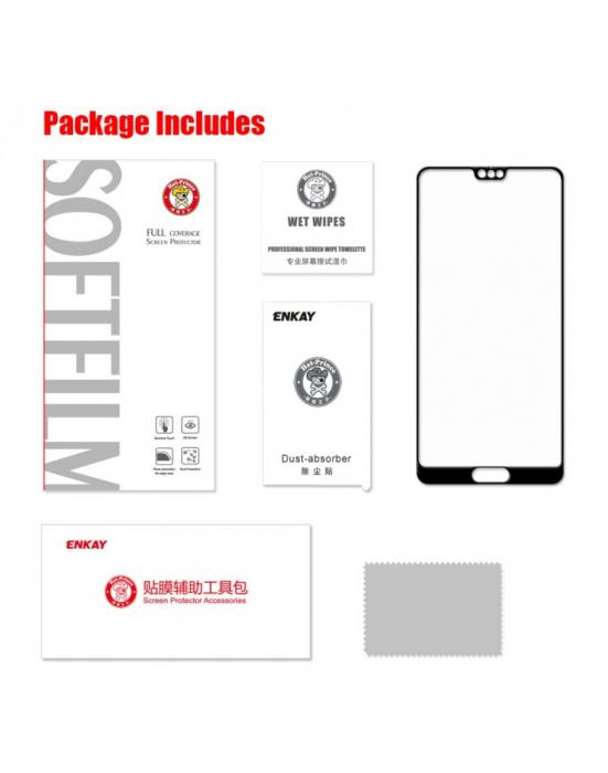 Sticla securizata protectie ecran 0.26mm pentru Huawei P20 Pro, neagra 2