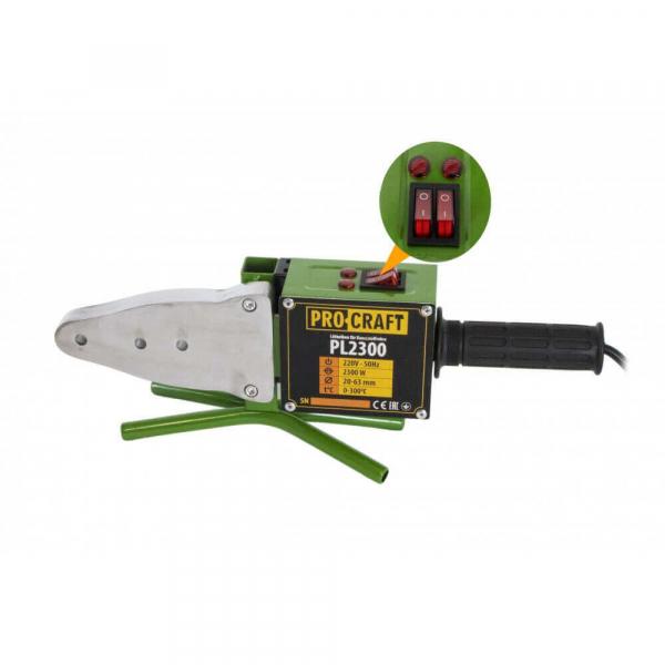 Aparat de lipit tevi PPC, PPR ProCraft PL2300, 2300 W, 300 grade C, trusa lipit tevi cu 6 bac-uri 1