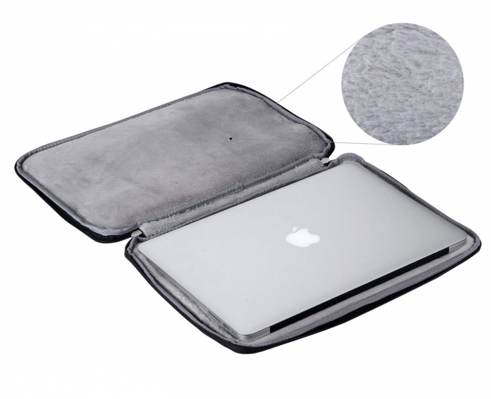 """Geanta protectie pentru MacBook 13.3"""", neagra 1"""