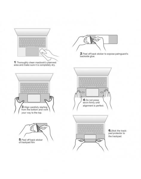 "Folie protectie palm rest si trackpad aspect aluminiu pentru MacBook Pro 13.3"" 2016 / Touch Bar, space grey 2"