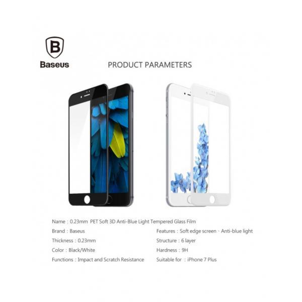 Sticla securizata protectie ecran completa pentru iPhone 7 / 8 Plus 2