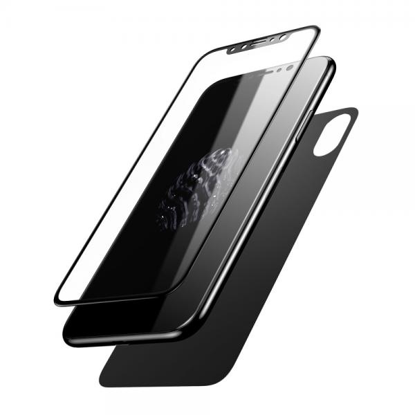Pachet sticle securizate protectie fata spate pentru iPhone X 0