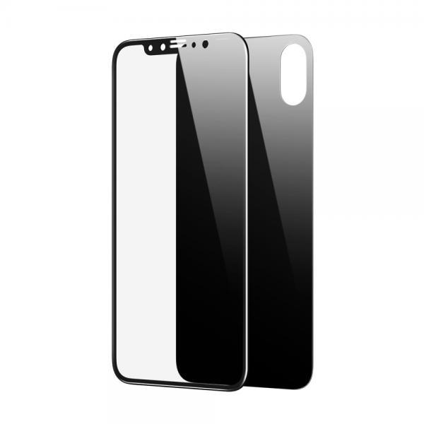 Pachet sticle securizate protectie fata spate pentru iPhone X 6