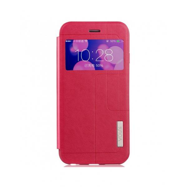 """Husa protectie VOUNI """"Window View"""" pentru iPhone 6 / 6s, rosie 0"""