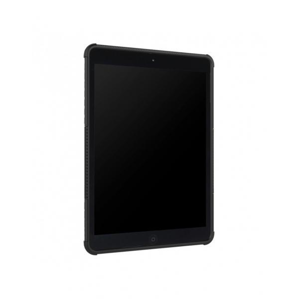 Carcasa protectie spate cu suport din plastic si gel TPU pentru iPad 9.7 inch (2017/2018), neagra 4
