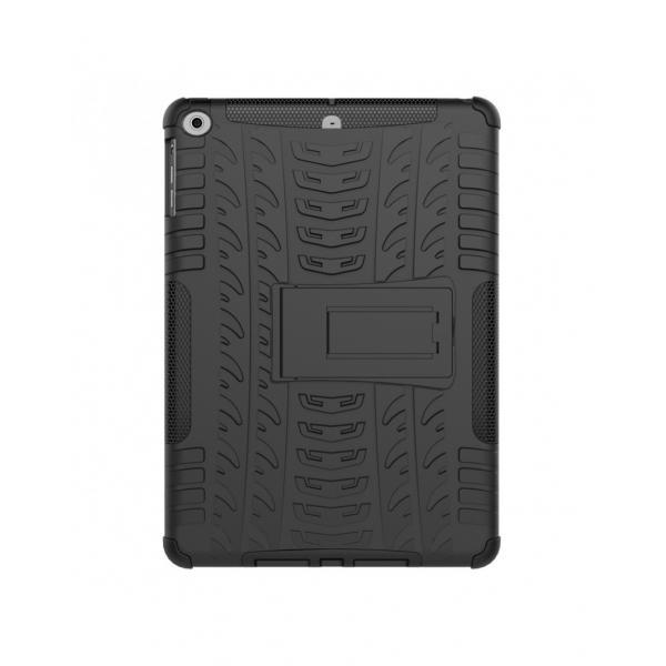 Carcasa protectie spate cu suport din plastic si gel TPU pentru iPad 9.7 inch (2017/2018), neagra 2