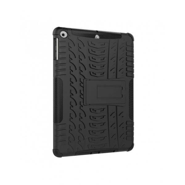 Carcasa protectie spate cu suport din plastic si gel TPU pentru iPad 9.7 inch (2017/2018), neagra 3