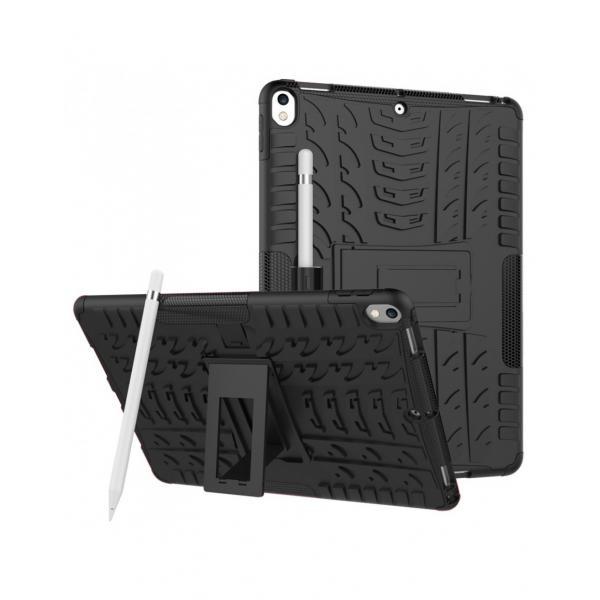 """Carcasa de protectie cu suport din plastic si gel TPU pentru iPad Pro 10.5"""" (2017), neagra 0"""