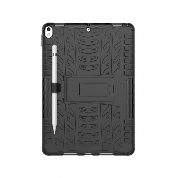 """Carcasa de protectie cu suport din plastic si gel TPU pentru iPad Pro 10.5"""" (2017), neagra 4"""