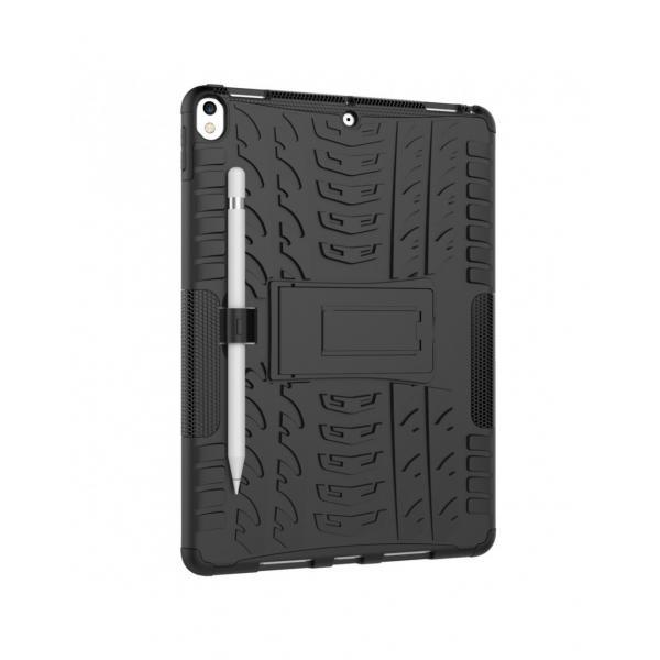 """Carcasa de protectie cu suport din plastic si gel TPU pentru iPad Pro 10.5"""" (2017), neagra 5"""