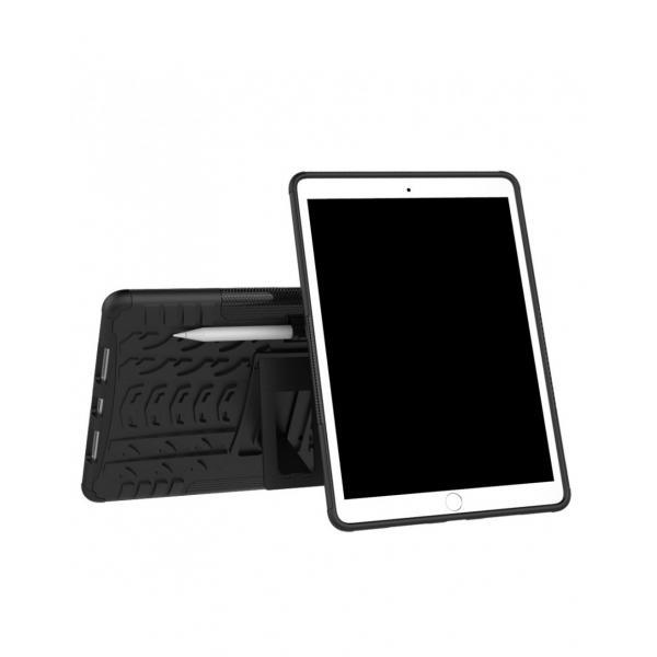 """Carcasa de protectie cu suport din plastic si gel TPU pentru iPad Pro 10.5"""" (2017), neagra 1"""