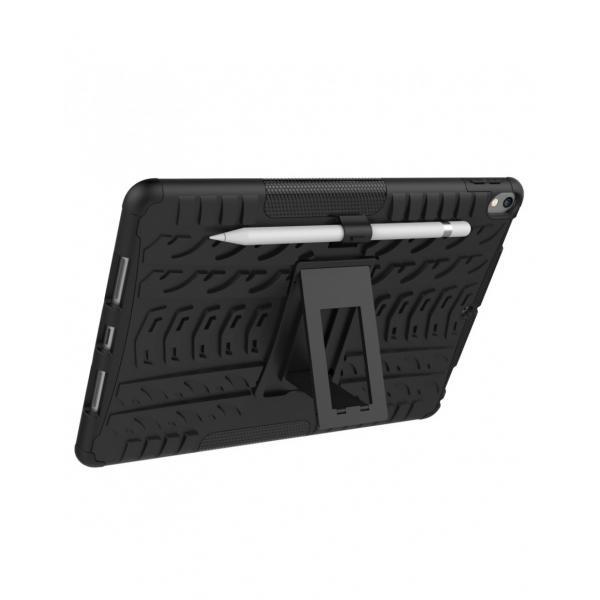 """Carcasa de protectie cu suport din plastic si gel TPU pentru iPad Pro 10.5"""" (2017), neagra 7"""