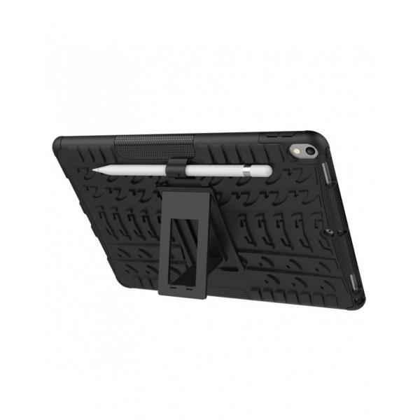 """Carcasa de protectie cu suport din plastic si gel TPU pentru iPad Pro 10.5"""" (2017), neagra 2"""