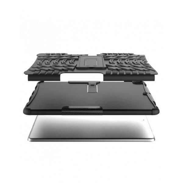 """Carcasa de protectie cu suport din plastic si gel TPU pentru iPad Pro 10.5"""" (2017), neagra 3"""