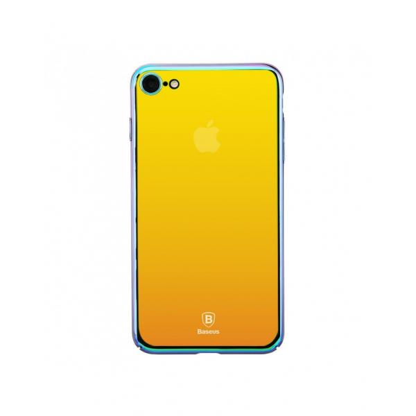 Carcasa protectie spate BASEUS din plastic cu suprafata oglinda pentru iPhone 7 Plus, gold 2