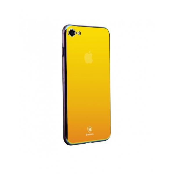 Carcasa protectie spate BASEUS din plastic cu suprafata oglinda pentru iPhone 7 Plus, gold 0